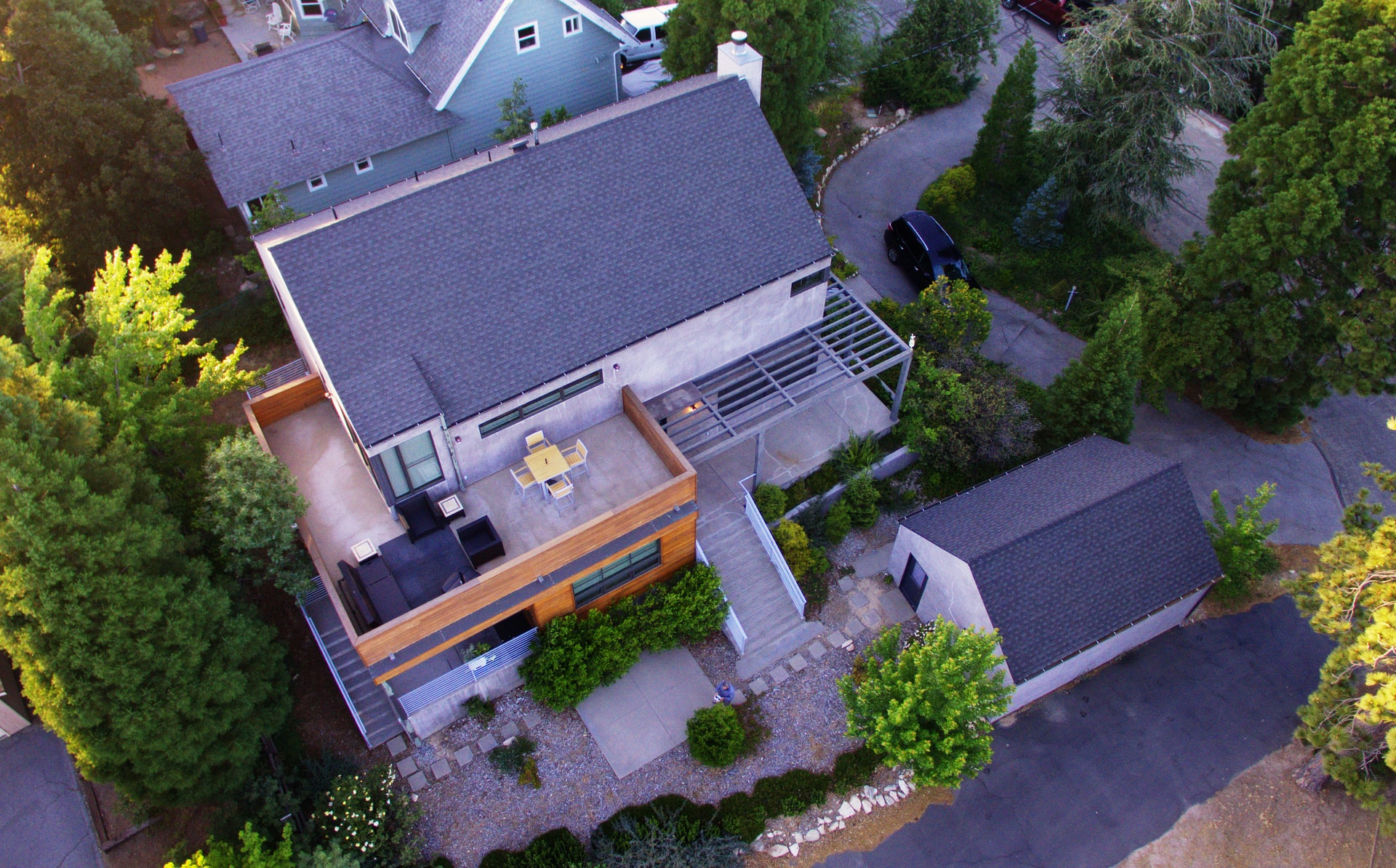 house top view
